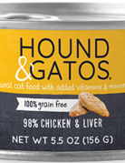 Hound & Gatos Feline Grain-Free 98% Chicken & Liver
