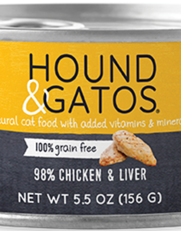 Hound & Gatos Feline Grain-Free 98% Chicken & Liver