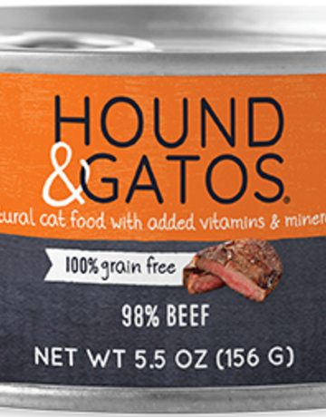 Hound & Gatos Feline Grain-Free 98% Beef