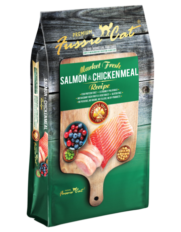 Fussie Cat Feline Grain-Free Market Fresh Salmon & Chicken Meal