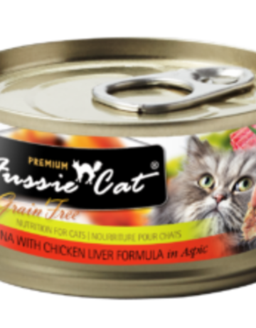 Fussie Cat Feline Grain-Free Tuna with Chicken Liver Dinner