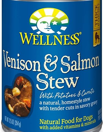 Wellness Pet Food Canine Grain-Free Homestyle Venison & Salmon Stew