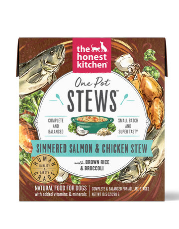 The Honest Kitchen Canine One Pot Stews: Simmered Salmon & Chicken Stew with Brown Rice