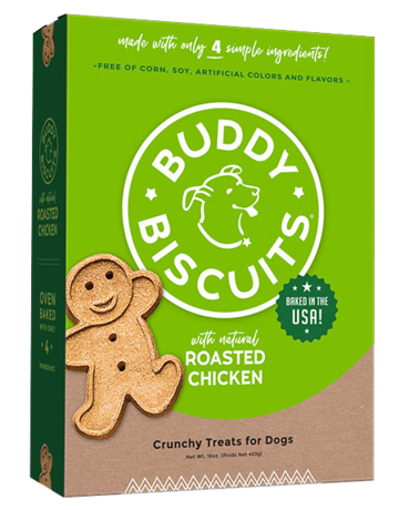Buddy Biscuits Canine Whole Grain Roasted Chicken Biscuits