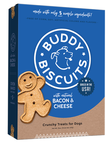 Buddy Biscuits Canine Whole Grain Bacon & Cheese Biscuits