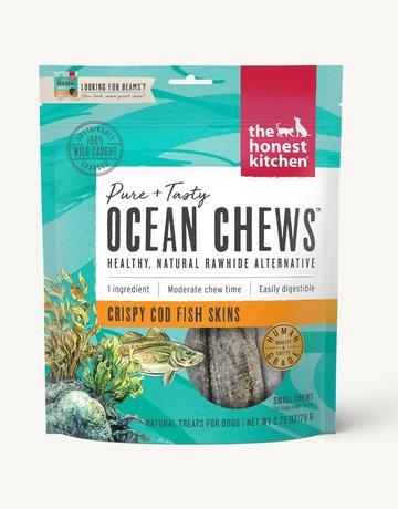 The Honest Kitchen Canine Ocean Chews - Crispy Cod Skins