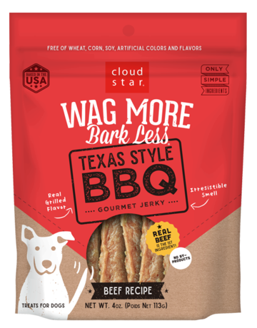 Cloud Star Canine Wag More Bark Less Jerky - Texas Style BBQ