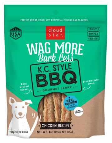 Cloud Star Canine Wag More Bark Less Jerky - K.C. Style BBQ