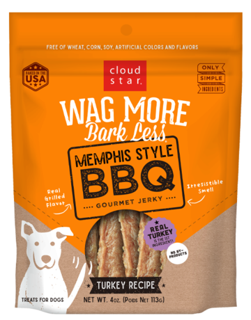 Cloud Star Canine Wag More Bark Less Jerky - Memphis Style BBQ