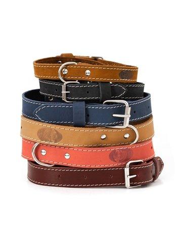 Adjustable Buckle Leather Collar