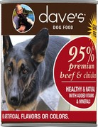 Daves Pet Food Canine Grain-Free 95% Beef & Chicken Pate