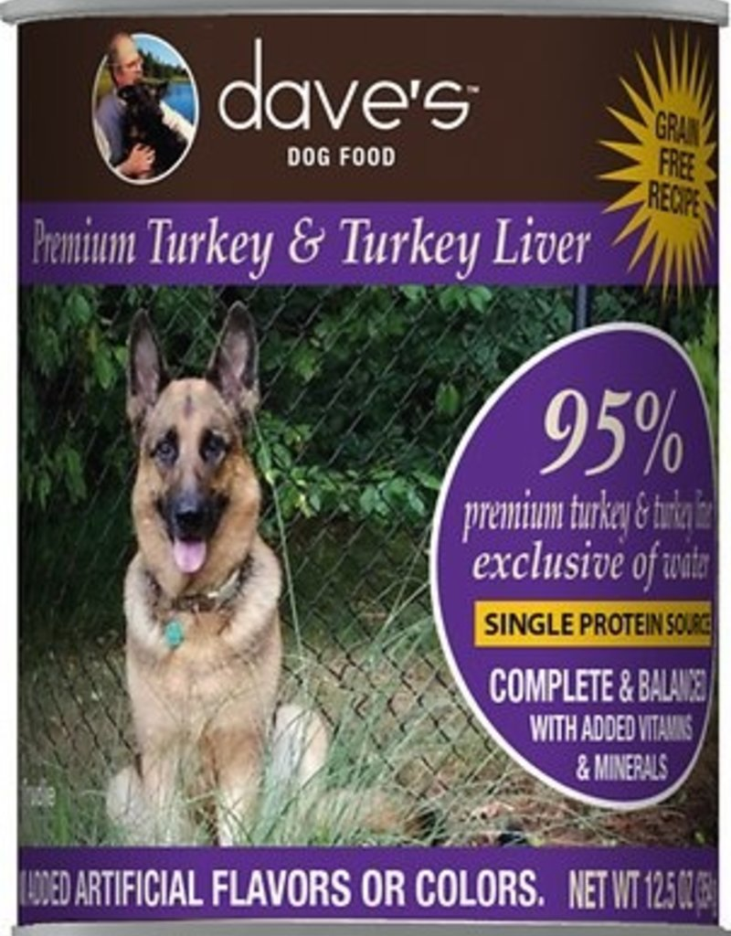 Daves Pet Food Canine Grain-Free 95% Turkey & Liver Pate