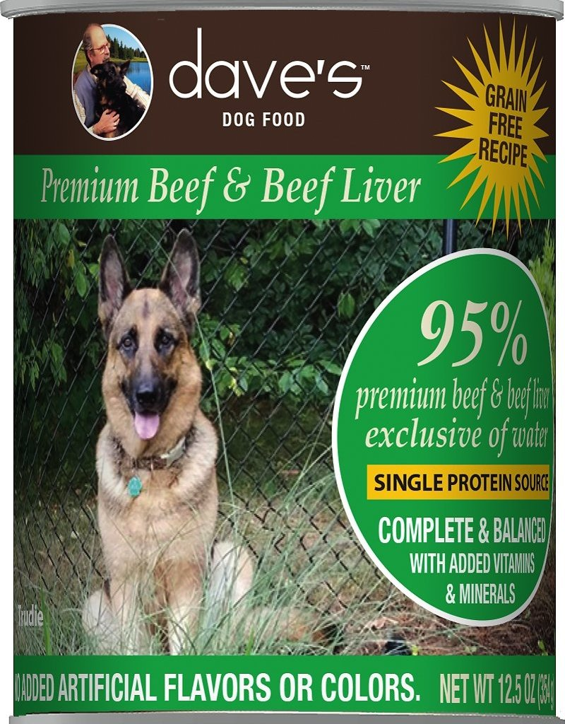 Daves Pet Food Daves Dog Can 95% Beef & Liver 13oz