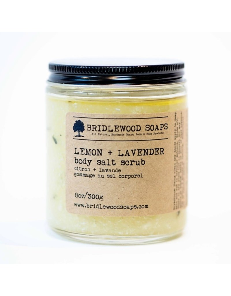 Lemon and Lavender Salt Scrub