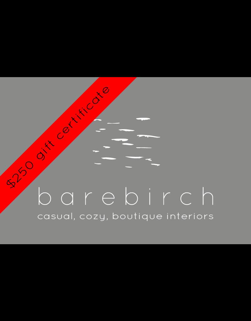 barebirch $250 gift card