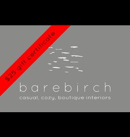 barebirch $25 gift card