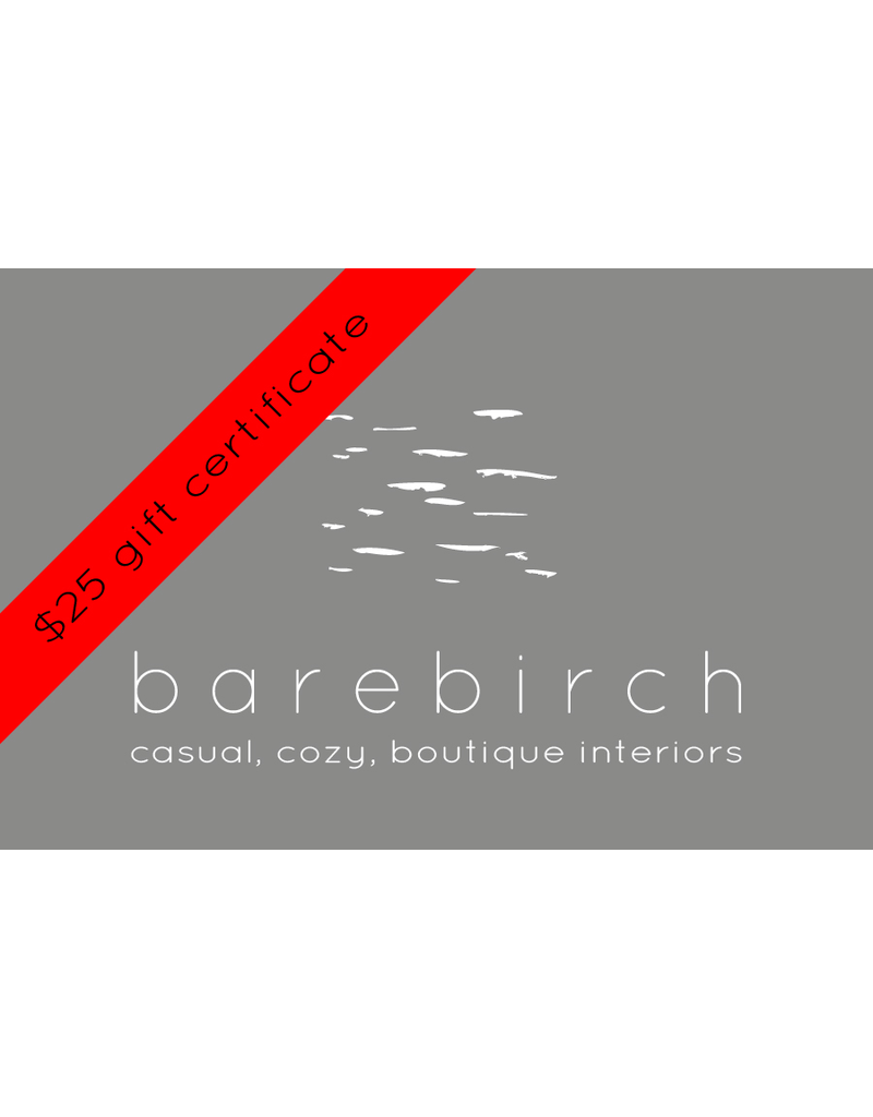barebirch $25 gift card