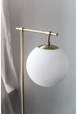 Floor Lamp with Frosted Globe