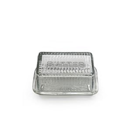 Retro Glass Butter Dish
