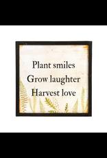 Plant Smiles Wooden Art