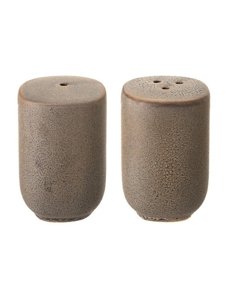 Stoneware Salt and Pepper Shakers
