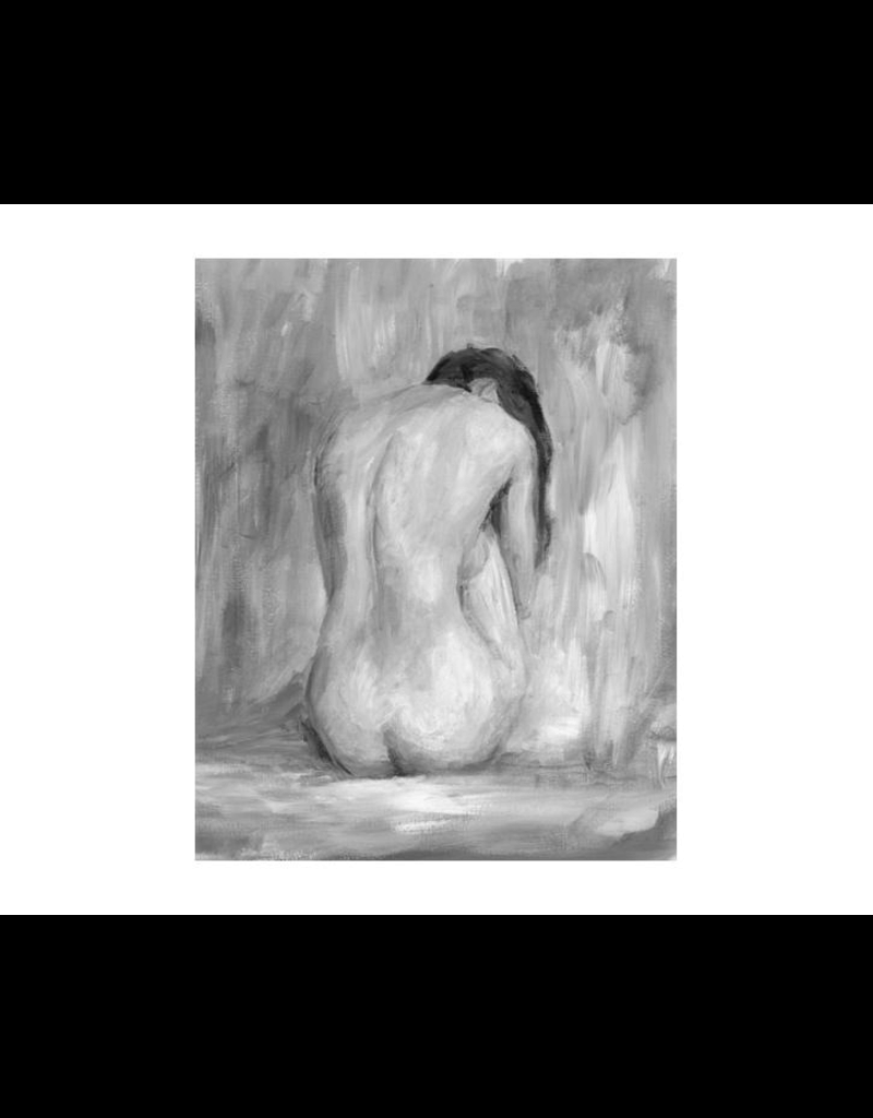 "FIGURE IN BLACK & WHITE II 24"" X 30"""