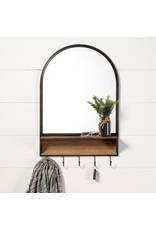 Neville Arch Wood/Metal Frame Mirror