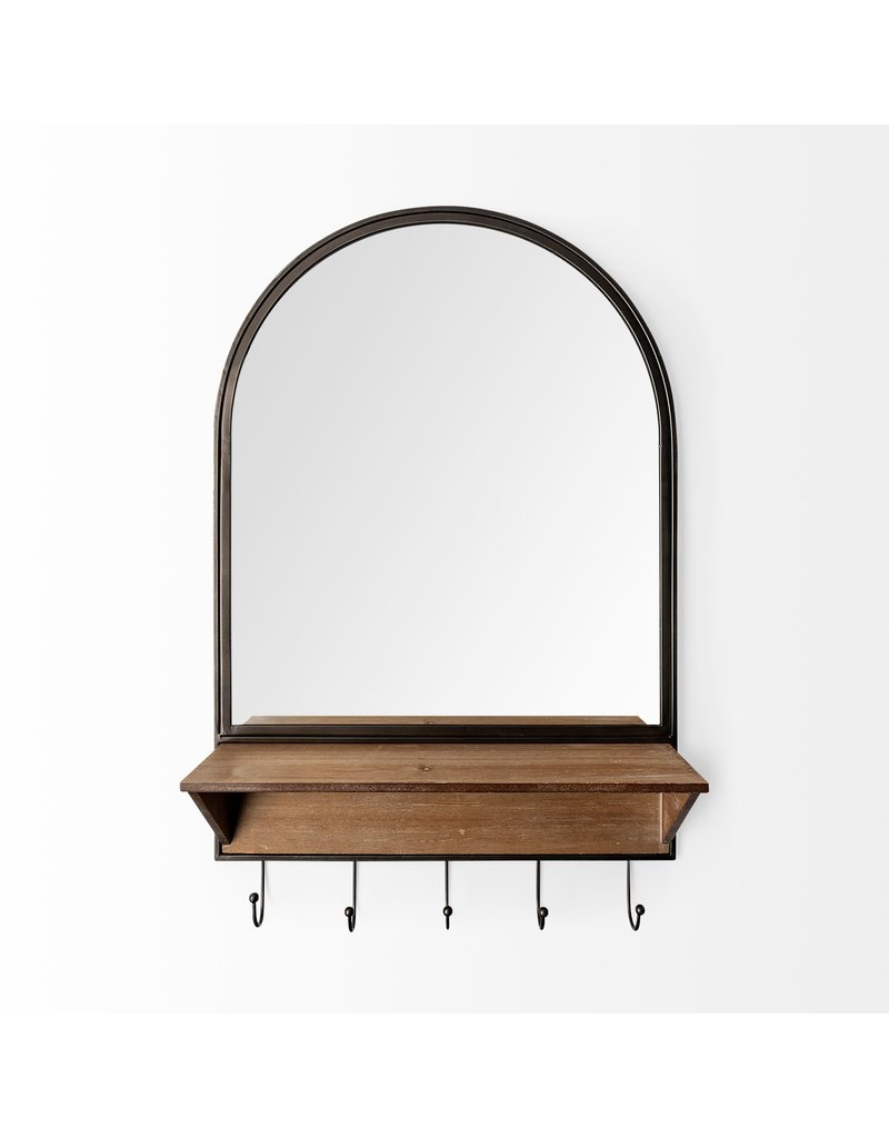 Neville Arch Wood/Metal Frame Mirror