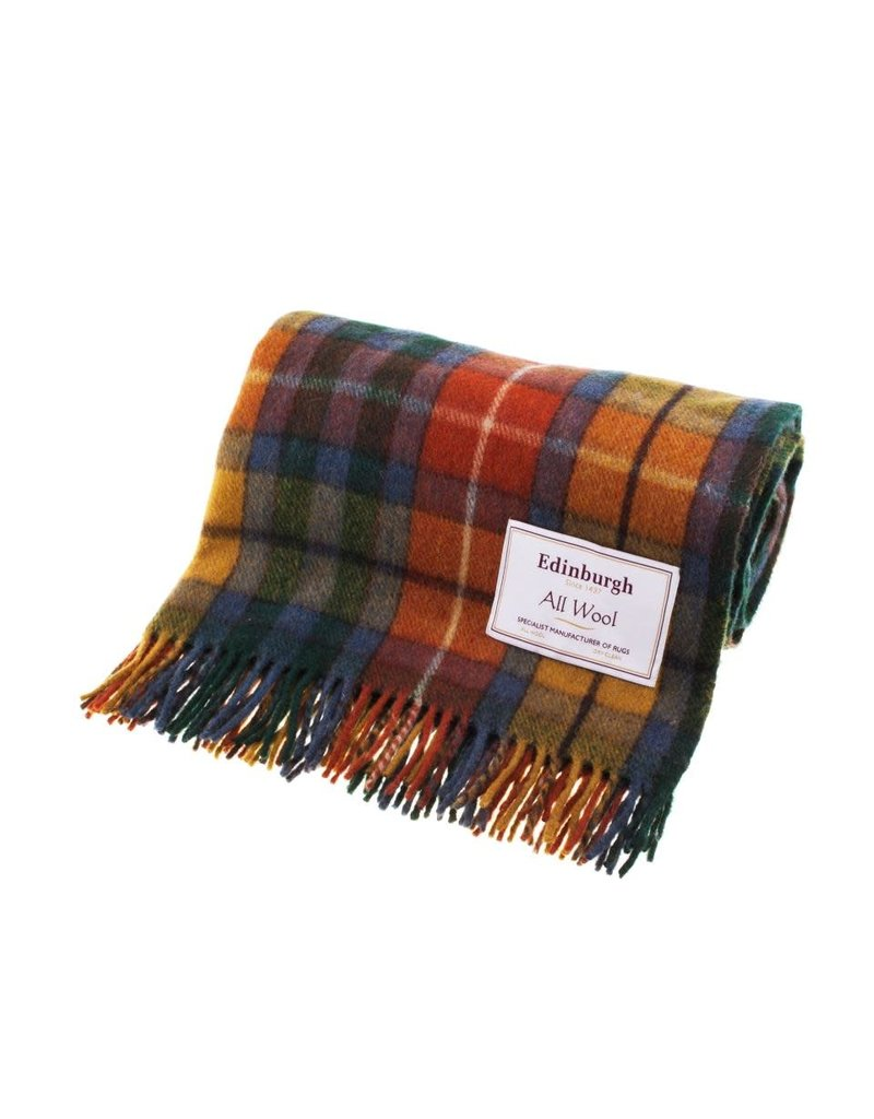 Edinburgh Wool Throw Blanket  - Antique Buchanan