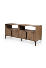 WYETH MEDIA CONSOLE - RUSTIC SUNDRIED ASH