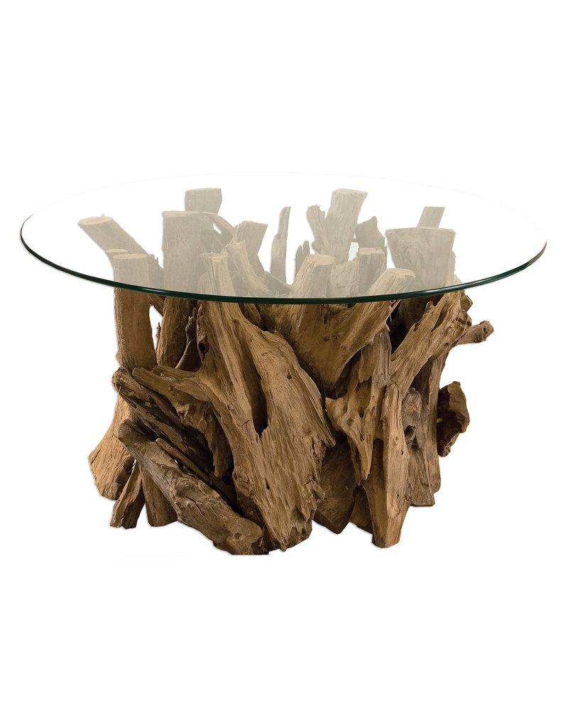 TEAK DRIFTWOOD COCKTAIL TABLE