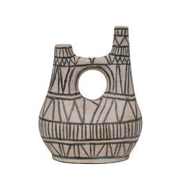 Hand-Painted Terra-Cotta Vase