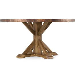 """Hooker Furniture Sanctuary Round Copper Dining Table 60"""""""
