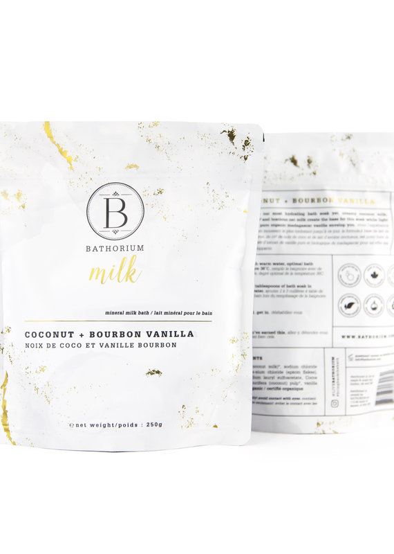 Bathorium MILK Coconut + Vanilla Mineral Bath Soak 250g