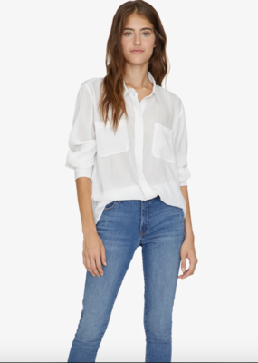 Sanctuary Waverly Boyfriend Top White