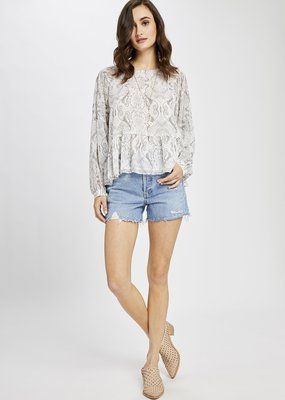 Gentle Fawn Felicity White Paisley Blouse
