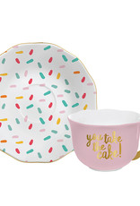 Slant Collections You Take The Cake Cup/Saucer