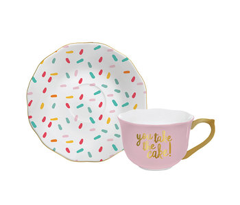 You Take The Cake Cup/Saucer