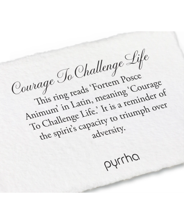 Courage to Challenge Ring Sz7.5 Silver