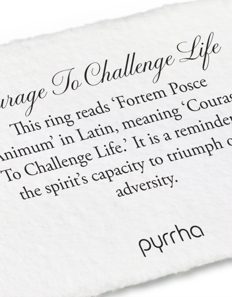 Pyrrha Courage to Challenge Ring Sz7.5 Silver