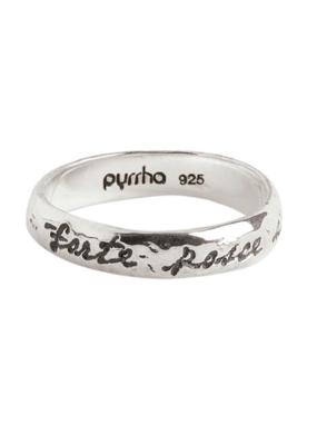 Pyrrha Courage to Challenge Ring Sz7.5 Silver