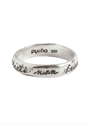 Pyrrha Bent Not Broken Silver Ring Sz 6.5