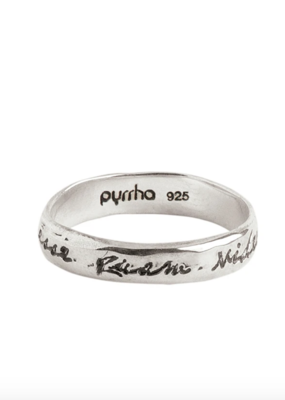 Pyrrha To Be Rather Than To Seem Silver Ring Sz 7 Silver