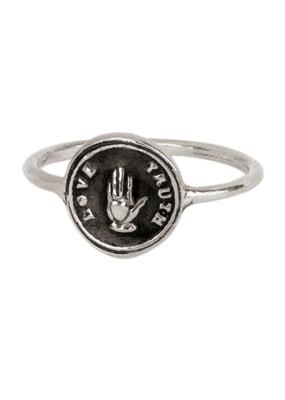 Pyrrha Love Truth Silver Ring Sz7