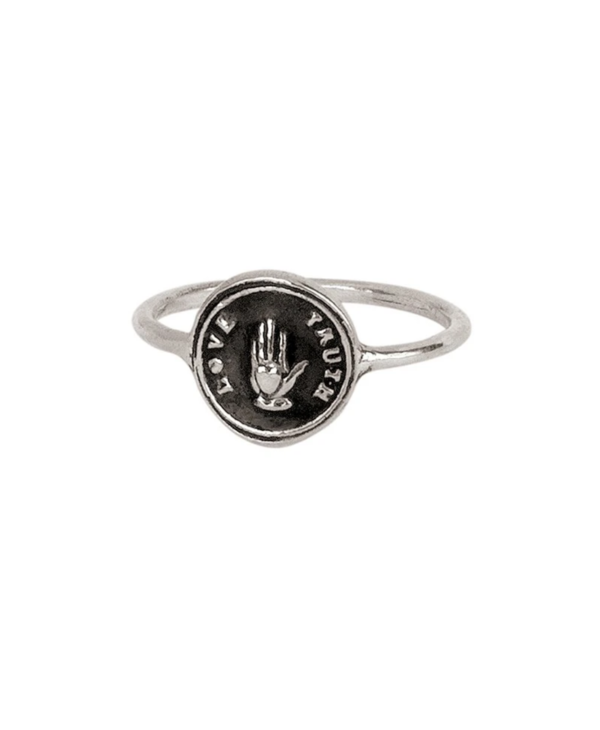 Love Truth Silver Ring Sz7