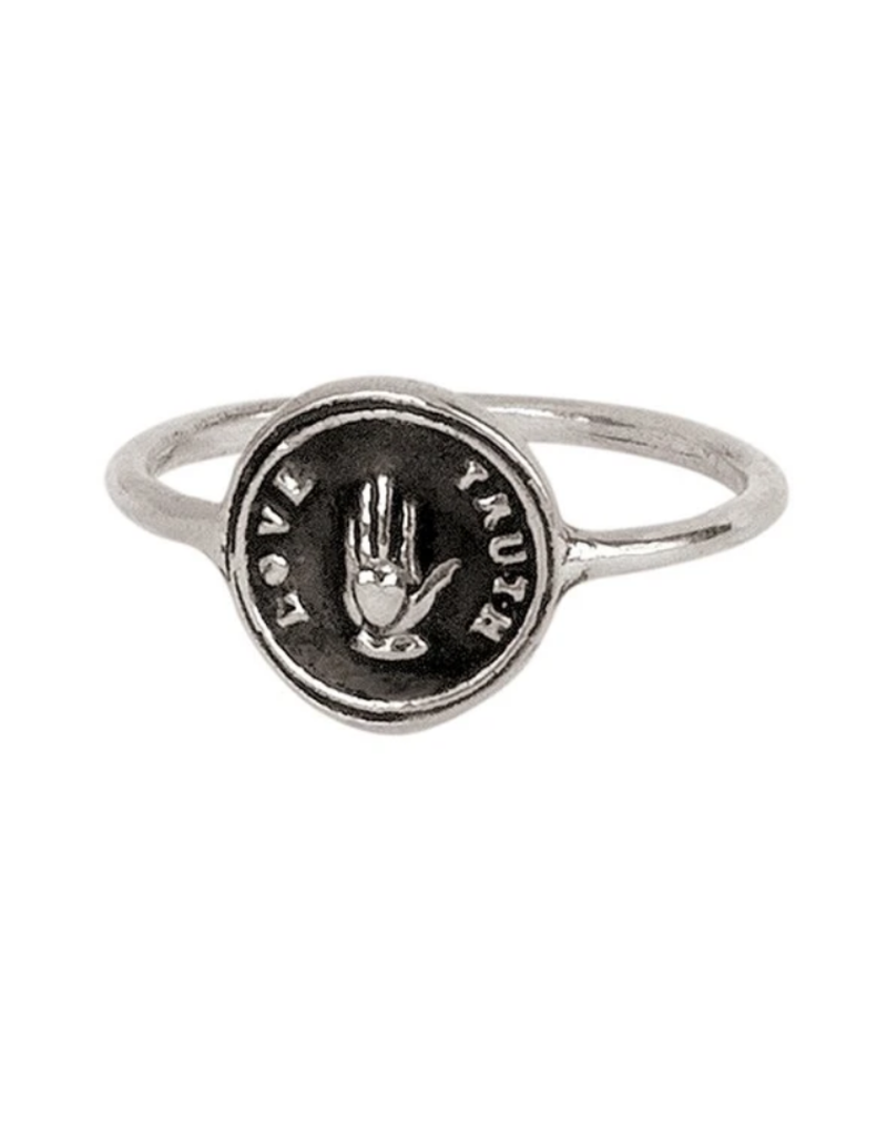 Pyrrha Love Truth Silver Ring Sz7