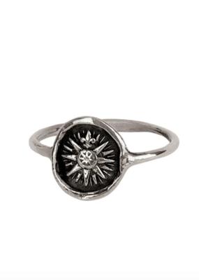 Pyrrha Direction Silver Ring Sz 6.5