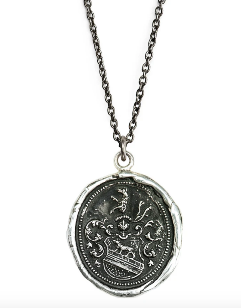 Pyrrha Heart of the Wolf Sterling Silver 18in