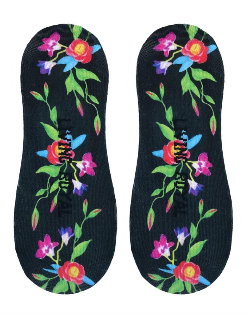 Living Royal Black Ivy Liner Socks