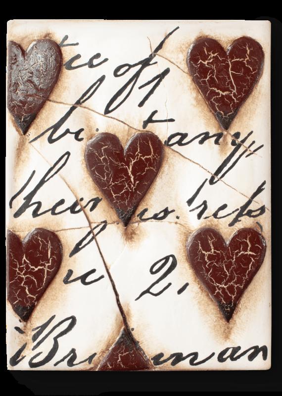 Sid Dickens T01 Heart w/ Script Red